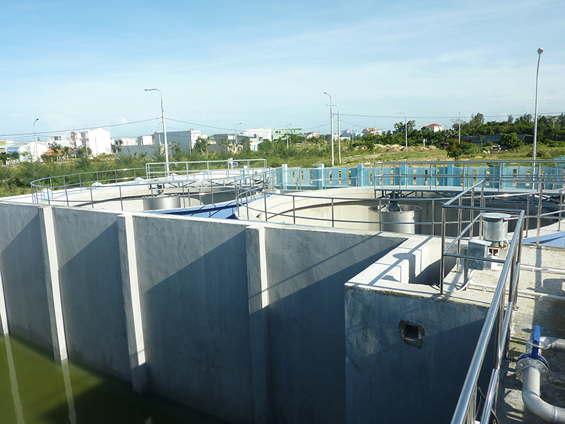 Trạm xử lý nước thải làng nghề đá Mỹ nghệ Non Nước.